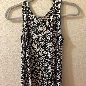 Old Navy Tops - Old Navy Black and White Flower Shirt